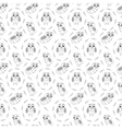 Owl black and wihte seamless pattern vector image