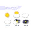 Weather Design Elements vector image