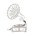 gramophone vynil music device vector image