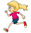 A running girl vector image vector image