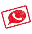 Phone Message Icon Rubber Stamp vector image