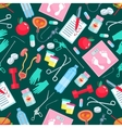 Medicine and health items seamless pattern vector image vector image