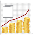 plan for financial growth vector image vector image