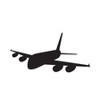 Commercial Jet Plane Airline Silhouette vector image vector image