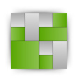 Business squares green vector image