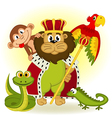 lion king of animal vector image
