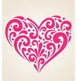 decorative red heart vector image