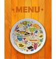 Coffee and Tea Sketch Doodles for Restaurant Menu vector image
