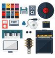 My Music Studio Instrument Flat Design vector image