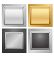 Metallic plaque backgrounds vector image