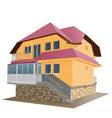 floor house vector image