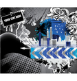 urban background with city vector image vector image