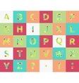 Creative spectral alphabet of geometric paper vector image