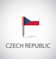 czech flag pin vector image