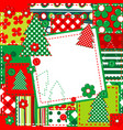 scrapbook background for christmas vector image