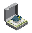 The Bank in case of money from money The guarantee vector image