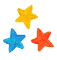 Watercolor stars vector image