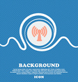 Wi-fi internet sign icon Blue and white abstract vector image