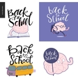 Back to school lettering set vector image