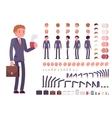 Businessman character creation set vector image