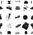 Event service pattern icons in black style Big vector image