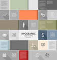 Abstract colorful info graphic elements poster vector image