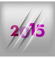 2015 numbers purple vector image vector image