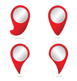 map pointer in red color vector image