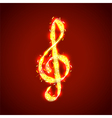 Treble clef of notes musical background vector image