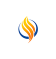 abstract fire business technology logo vector image