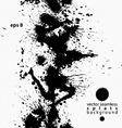 Black and white ink splash seamless pattern vector image