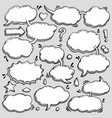 collection of hand drawn speech bubbles vector image
