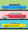 detailed luxury limousine long car vector image
