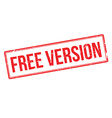 Free version rubber stamp vector image