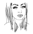 hand painted sketch fashion vector image