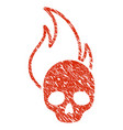 hell fire icon grunge watermark vector image