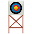 Shooting target on white background vector image