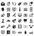 smartphone icons set simple style vector image