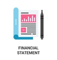 financial statement icon concept vector image