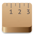 Icon for ruler vector image