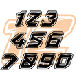 racing sports numbers vector image