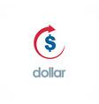 dollar up business logo vector image