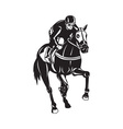 Horse Racing Equestrian Retro Woodcut vector image