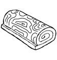 swiss roll vector image vector image