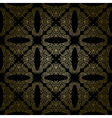 floral gold pattern on black background - seamless vector image