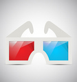3d glasses vector image