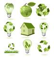 mega set of ecology econs vector image vector image