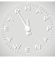 new year paper clock vector image vector image