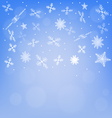 Abstract winter background with snowflakes vector image