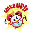 comical red alarm clock vector image